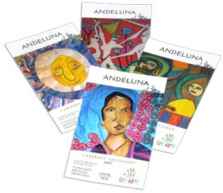 Etiquetas Vino Andeluna